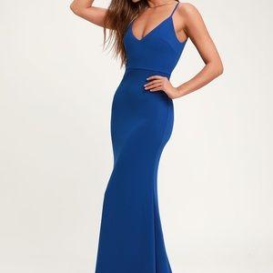 Infinate Glory Royal Blue Maxi Dress